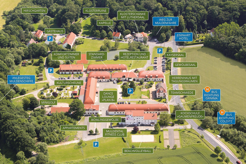 Geländeplan - Hotel Kloster Nimbschen Grimma